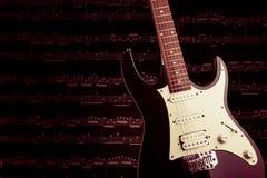 Изображение крупного плана электрической гитары Стоковые Изображения RF
