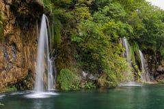 Изображение ландшафта национального парка озер Plitvice Стоковые Изображения RF