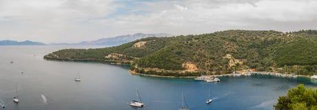 Изображение лета Панорама лефкас в Греции стоковые изображения