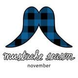 Изображение логотипа усика Movember Значок сезона усика иллюстрация штока