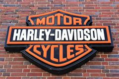 Изображение логотипа Harley Davidson - Билефельда/Германии - 07/23/2017 Стоковые Изображения
