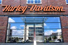 Изображение логотипа Harley Davidson - Билефельда/Германии - 07/23/2017 Стоковые Фотографии RF