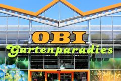 Изображение магазина ОБИ - логотипа - Minden/Германия - 07/18/2017 Стоковые Изображения