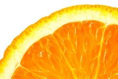 Изображение макроса зрелого апельсина близкий помеец вверх изолировано Стоковое Изображение