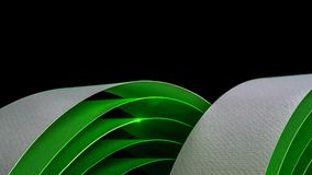 Изображение макроса красочных изогнутых листов бумаги стоковое фото