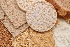 Изображение макроса много различных видов продуктов сделанных от whea Стоковое Изображение