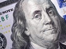 Изображение макроса нового доллара счета Стоковая Фотография RF
