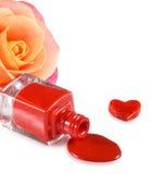 изображение маникюра, декоративных сердец и цветка подняло Стоковое фото RF