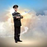 Изображение мыжского пилота Стоковое Изображение