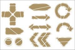 изображение направления 3d представило знак Стоковые Изображения