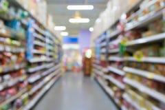Изображение нерезкости супермаркета для предпосылки Стоковая Фотография