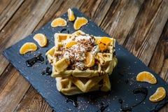 Изображение нескольких бельгийских waffles Стоковое Изображение RF