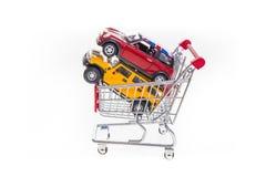 Изображение онлайн покупок автомобилей схематическое Стоковые Фотографии RF