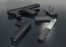изображение 3 оружия установленное Стоковая Фотография