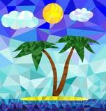 Изображение острова полигона Стоковое Изображение RF