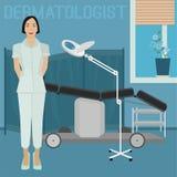 Изображение офиса дерматолога Стоковые Фотографии RF