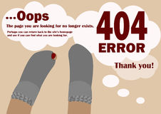 Изображение ошибки 404 страницы найденной Стоковые Фотографии RF