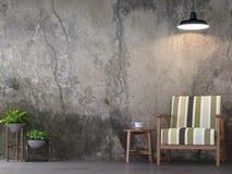 Изображение перевода живущей комнаты 3d стиля просторной квартиры Стоковые Фотографии RF