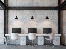 Изображение перевода офиса 3d стиля просторной квартиры Стоковые Фото