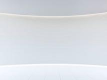 Изображение перевода 3d пустого космоса белой комнаты современного внутреннее Стоковое Изображение RF