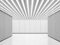 Изображение перевода 3d пустого космоса белой комнаты современного внутреннее Стоковые Изображения