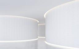 Изображение перевода 3d пустого космоса белой комнаты современного внутреннее Стоковое Изображение