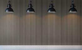 Изображение перевода 3d пустой стены внутреннее Стоковое фото RF