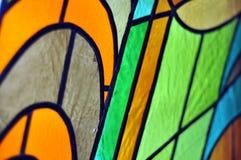 Изображение пестротканого витража с скачками блоком Стоковое Изображение RF