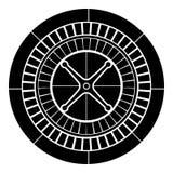Изображение плоского стиля иллюстрации цвета черноты значка рулетки простое Стоковое Фото