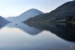 Озеро Weissensee, Австрия Стоковое Изображение RF