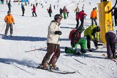 Кататься на лыжах Стоковое Фото