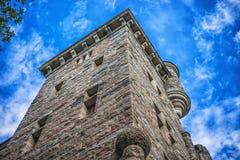 Изображение покинутых старых скандинавских руин башни Стоковое фото RF