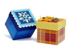 изображение подарка проверки коробок мое портфолио подобное Стоковые Изображения RF