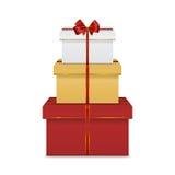 изображение подарка проверки коробок мое портфолио подобное Стоковые Изображения