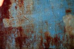 Изображение предпосылки grunge абстрактных обоев старой железной ржавой Стоковая Фотография