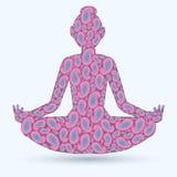 Изображение представления йоги Стоковые Фотографии RF
