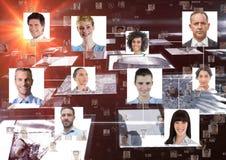 Изображение произведенное цифров портретов людей дела Стоковые Изображения