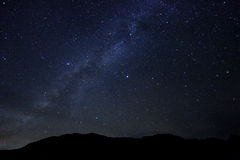 Изображение промежутка времени звезд ночи Стоковые Фотографии RF