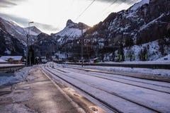 Изображение путешествия зимы пешего стоковое фото rf
