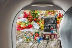 изображение плоских окна и орнаментов рождества Стоковые Фотографии RF