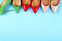 Изображение различных ботинок, съемка нескольких типов ботинок, Se Стоковые Изображения