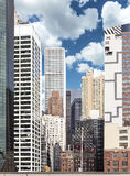 Изображение различных зданий в Манхаттане, NYC Стоковая Фотография