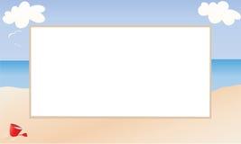изображение рамки пляжа опирающийся на определённую тему иллюстрация вектора