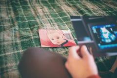 Изображение рассмотрения ультразвука беременной женщины Стоковое Фото