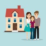 Изображение родного дома традиционное иллюстрация вектора