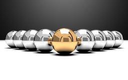 изображение руководителя 3d представило команду Стоковое Изображение