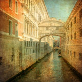 Изображение сбора винограда моста вздохов, Венеция Стоковые Фотографии RF