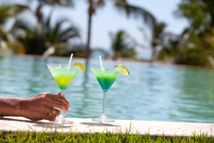 Изображение свежего экзотического коктеиля Стоковая Фотография
