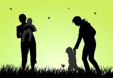 изображение семьи конструкции silhouettes ваше Стоковые Изображения