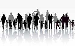 изображение семьи конструкции silhouettes ваше Стоковое Фото
